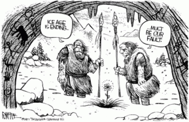 Global Warming Cavemen