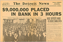 1933 Detroit Money Returned to Banks