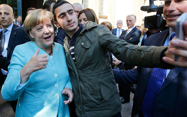 Merkel-Refugee