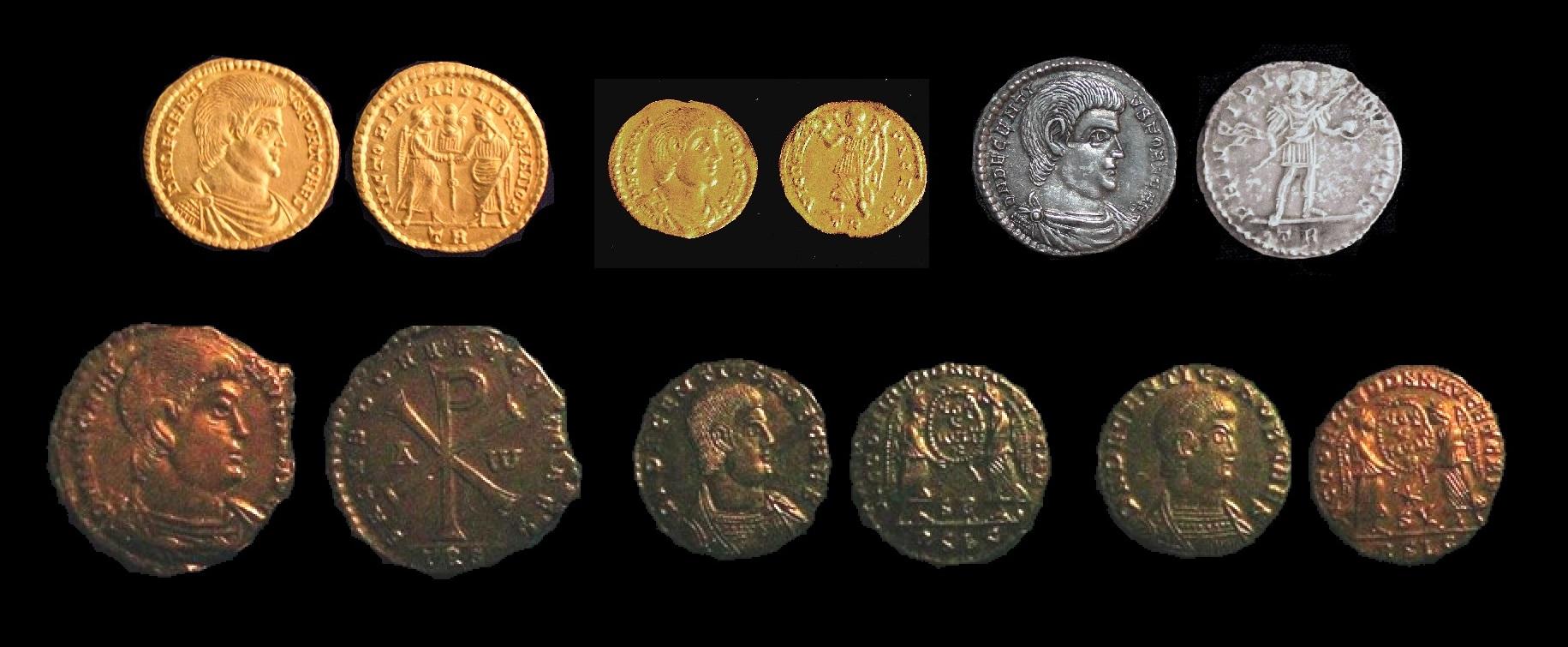 DECENTIUS Caesar   (brother Magnentius) DENOMINATIONS