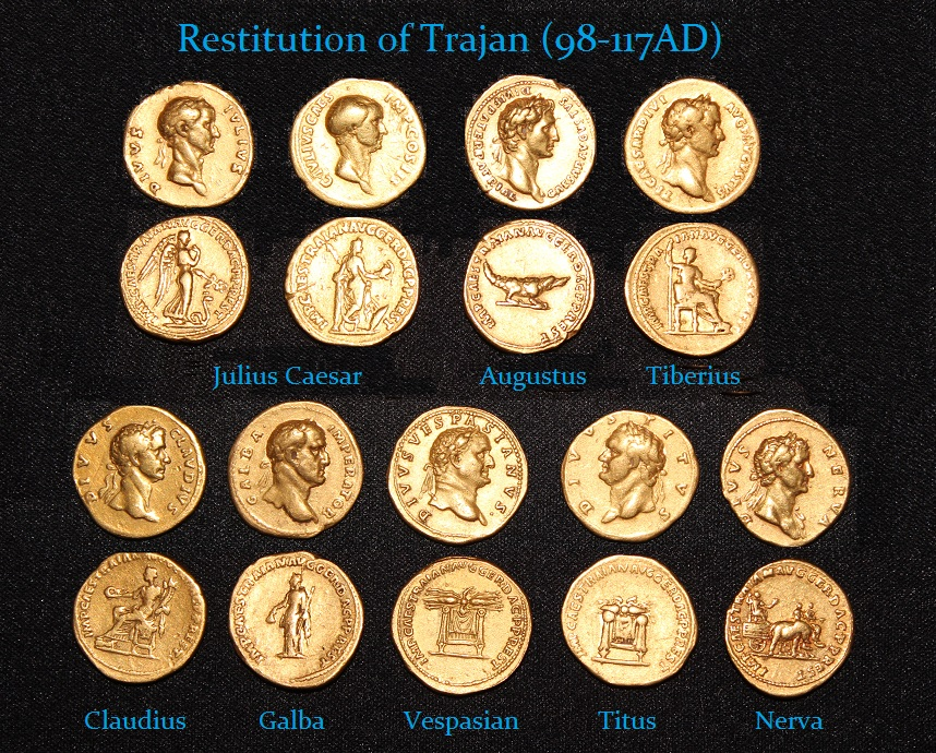 Trajan Restitution Gold Aureus - r