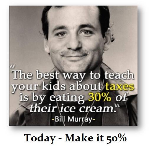 Bill Murry on Taxes